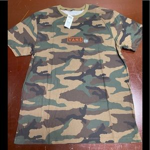 COPY - Vans Shoes Woodland Camo Box Logo T-shirt